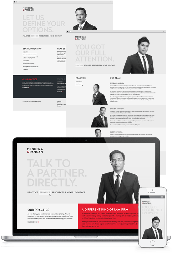 Responsive Website Design Law firm