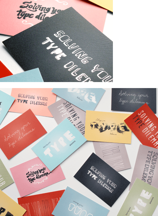 Hand lettering business cards